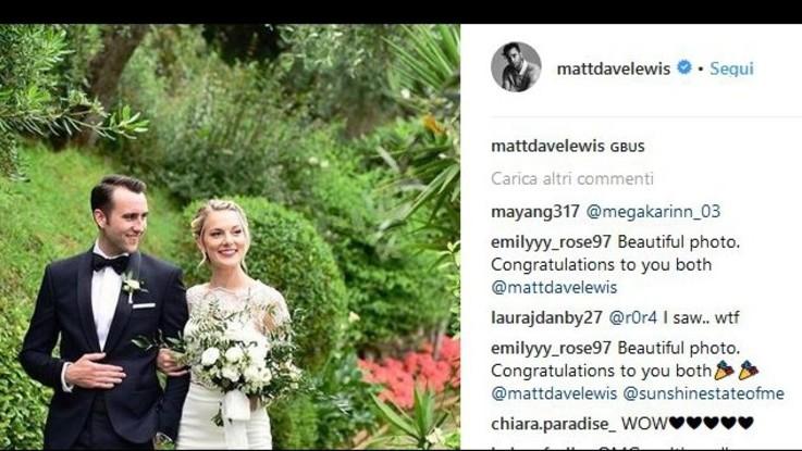 """Matthew Lewis si è sposato: matrimonio all'italiana per il Neville di """"Harry Potter"""""""