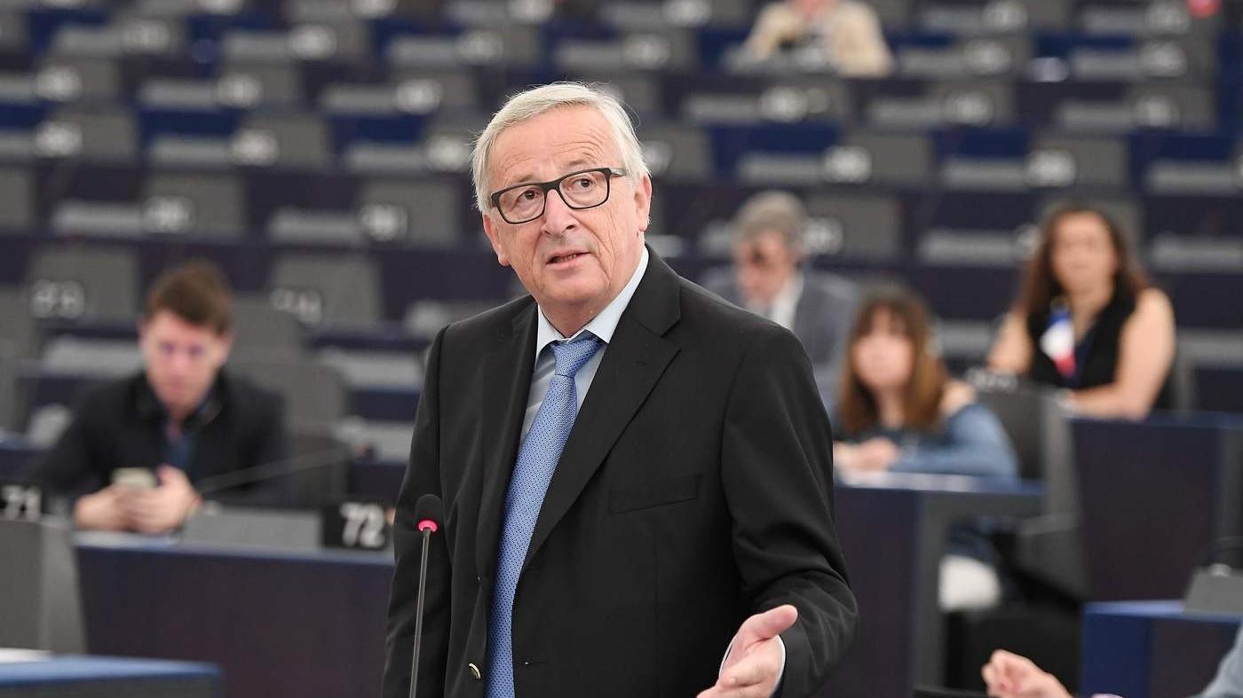 """Juncker: """"All'Italia serve più lavoro e meno corruzione"""""""