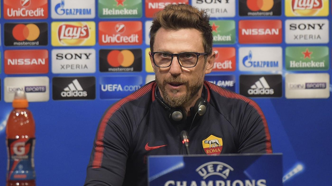 """Champions, Di Francesco senza paura: """"L'ambizione della Roma è arrivare in finale"""""""