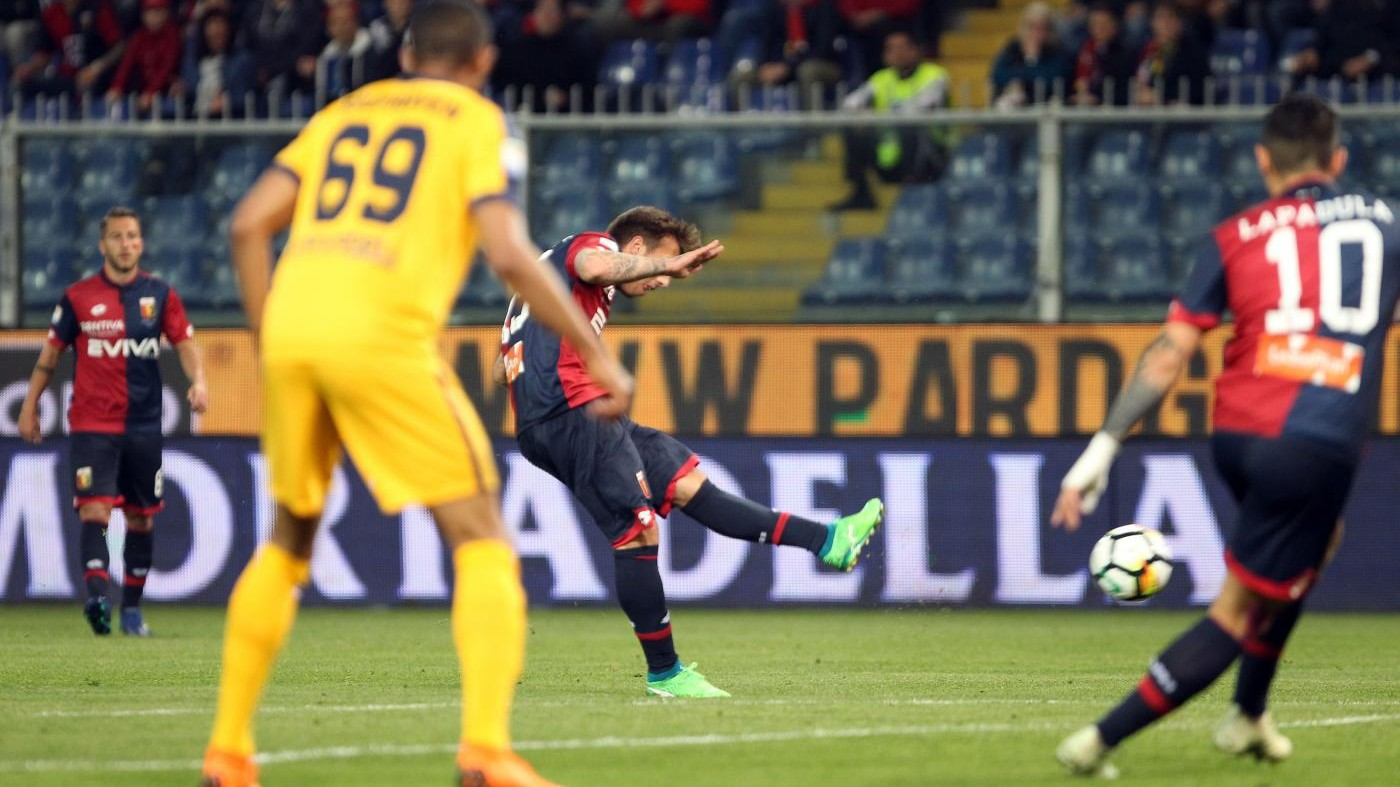 Il Genoa affonda le speranze del Verona (3-1). Serie B vicina