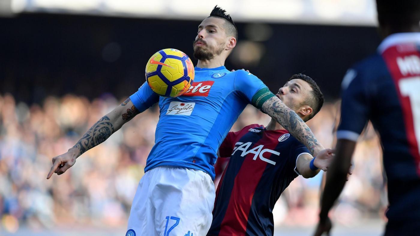 Serie A, Napoli-Bologna: 3-1   IL FOTORACCONTO