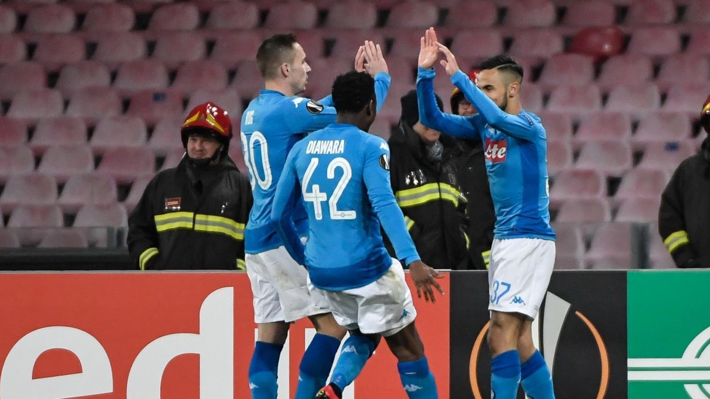 Europa League, Napoli-Lipsia 1-3 – IL FOTORACCONTO