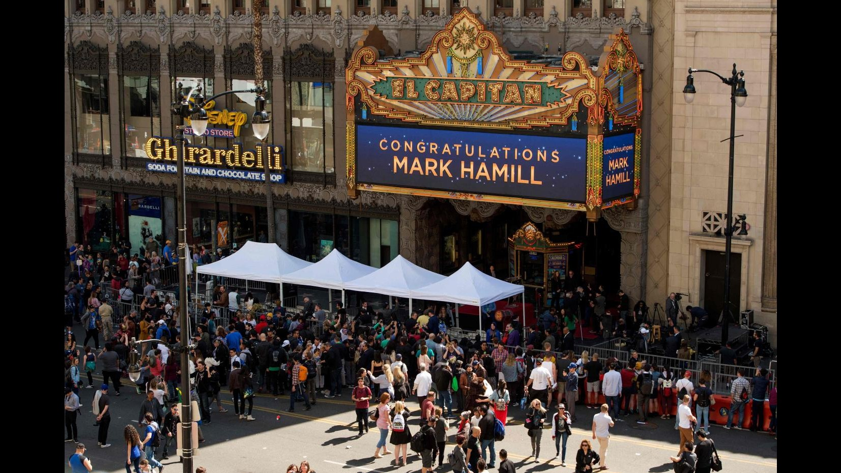 Una stella per Luke Skywalker: Mark Hamill è sulla Walk of Fame