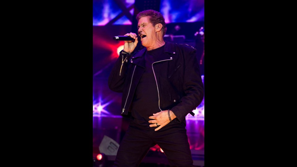 "David Hasselhoff in concerto intitolato "" 30 Years Looking for Freedom "" ©ddp"