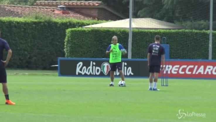 Primo allenamento per Mancini a Coverciano