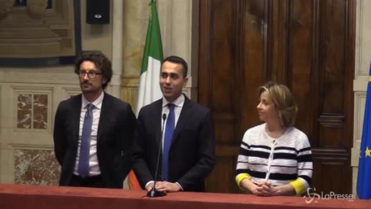 """Di Maio: """"Dei ministri si occuperanno Mattarella e Conte"""""""
