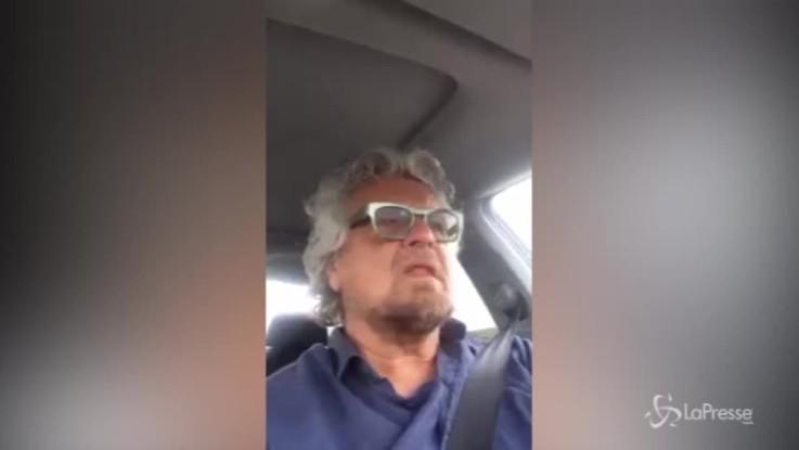 """Grillo: """"Italiani avviliti perchè il mercato parla per loro"""""""