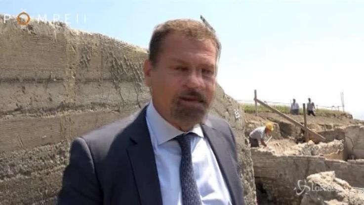 Pompei, ritrovato lo scheletro della prima vittima in fuga