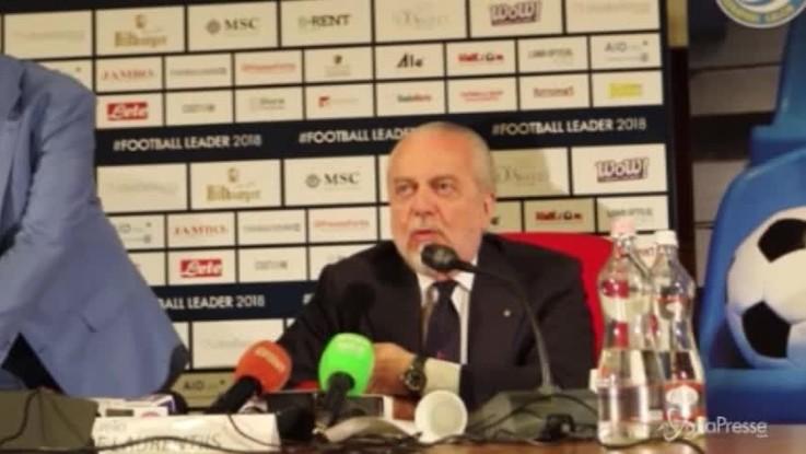 """De Laurentiis: """"Attaccanti e Balotelli non sono la nostra priorità"""""""