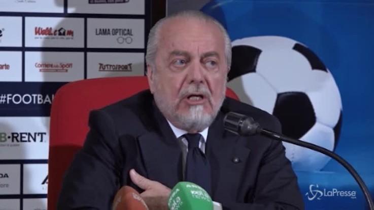 """De Laurentiis: """"Ancelotti trasmette serenità"""""""