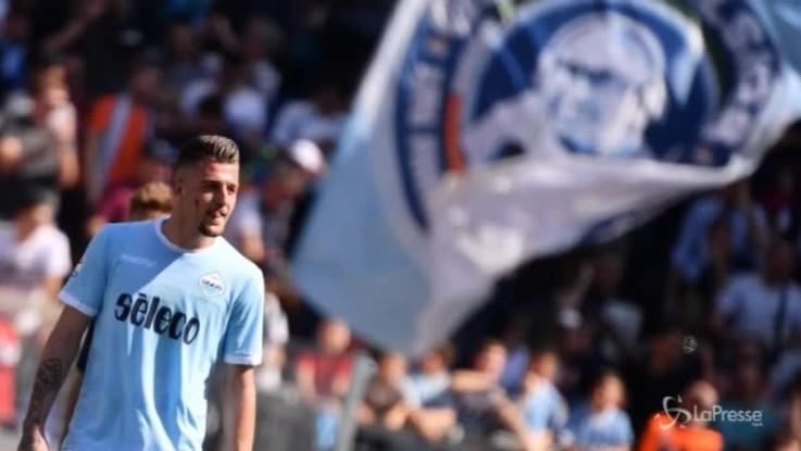 Il centrocampista della Lazio Milinkovic-Savic vale più di 100 milioni