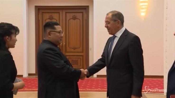 Incontro a Pyongyang tra Kim e Lavrov