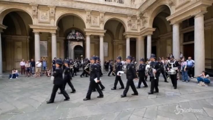Milano, la banda musicale della polizia in concerto