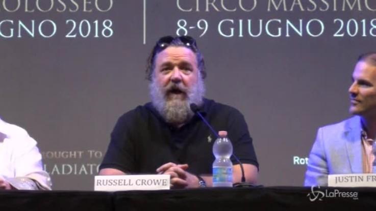 """Il Gladiatore in concerto, Russell Crowe: """"Esperienza unica nella vita"""""""
