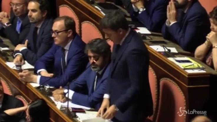 """Renzi a Conte: """"Lei è un premier non eletto, potrei dire un collega..."""""""