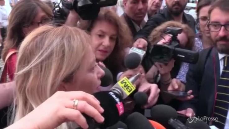 """Meloni: """"Conte ricorda sinistramente Veltroni"""""""
