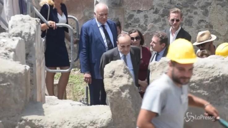 Bonisoli visita gli scavi di Pompei