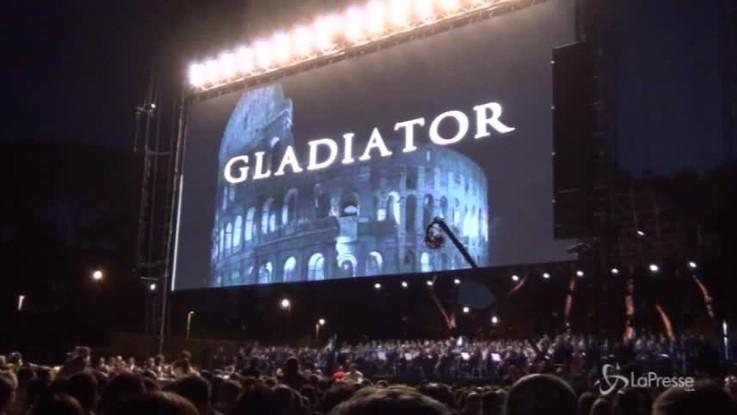 Il Gladiatore in concerto, l'introduzione di Russell Crowe è epica