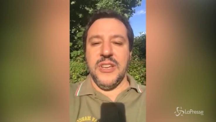 """Salvini a chi lo critica: """"Non state tutto il giorno a rosicare"""""""