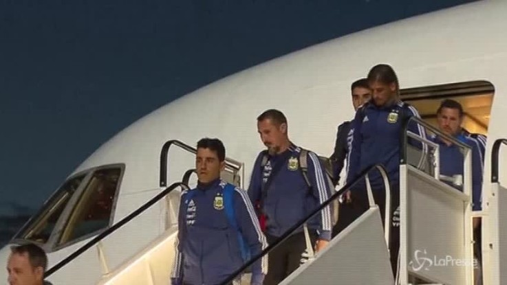 Mondiali, l'Argentina di Messi arriva in Russia