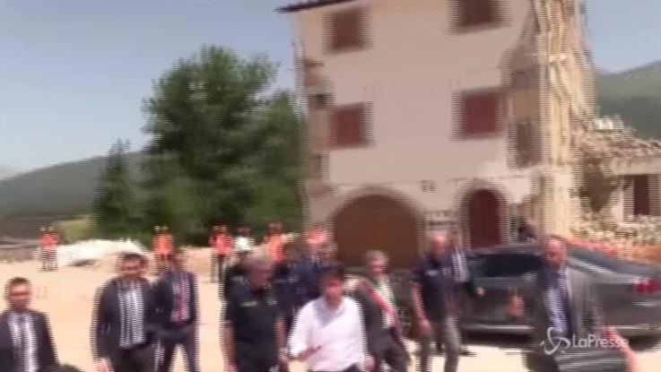 """Conte ad Amatrice: """"Nessuna promessa mirabolante, qui per solidarietà"""""""