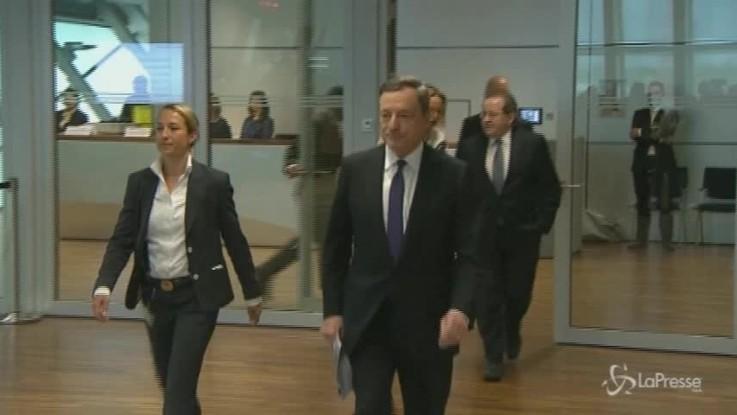"Draghi: ""Da Gennaio stop al quantitative easing"""