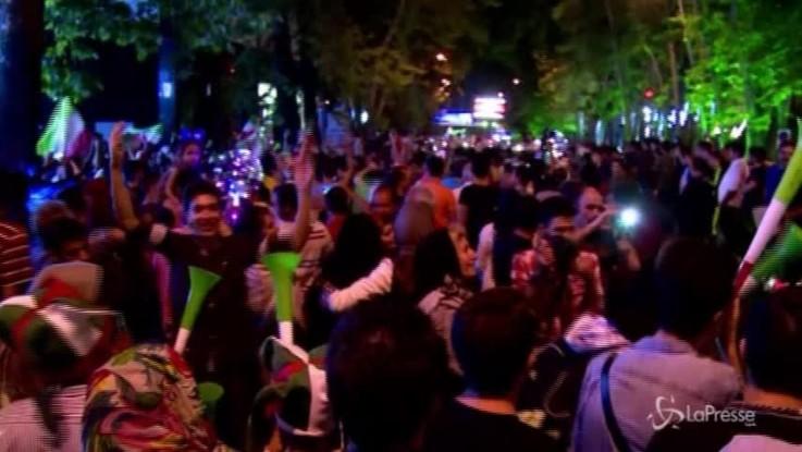 Russia 2018: buona la prima per l'Iran contro il Marocco, festa a Teheran