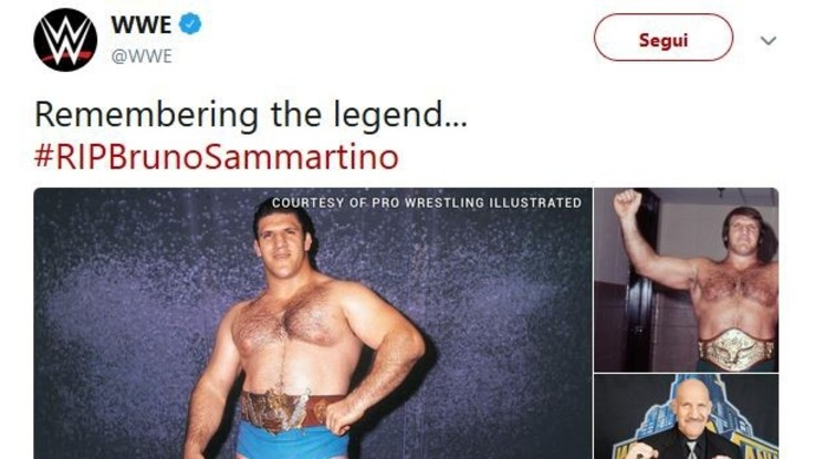 Wrestling, addio alla leggenda italiana Bruno Sammartino
