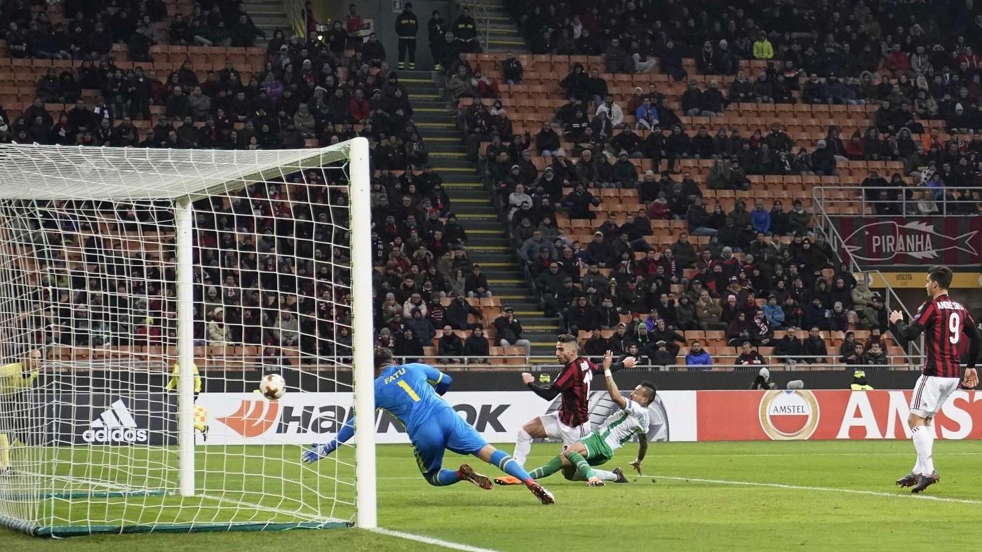 Milan facile sul Ludogorets. Ai rossoneri basta un gol di Borini