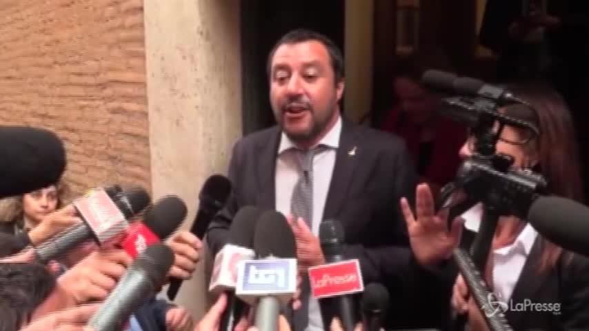 """Consultazioni, Salvini: """"Se non cadono veti degli uni contro gli altri, 8 luglio si torna al voto"""""""