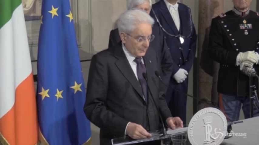 """Mattarella: """"I partiti scelgano se appoggiare un governo neutrale o andare al voto"""""""