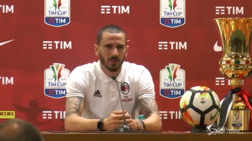 """Coppa Italia, Bonucci: """"Il Milan merita di giocare queste partite"""""""