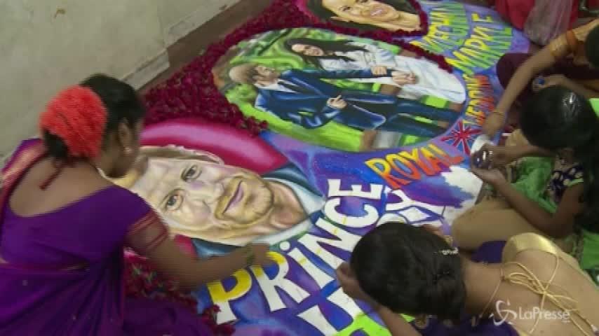 Royal wedding a colori: i disegni di un istituto d'arte indiano