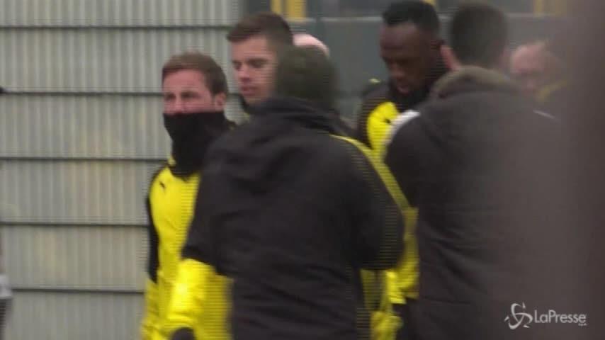 Borussia, folla per Bolt al primo allenamento