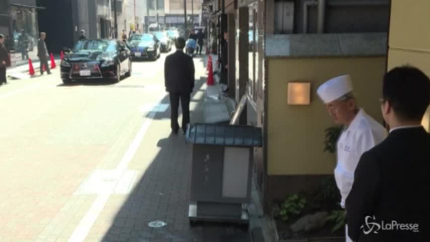Tokyo: sushi a pranzo per Obama e Shinzo Abe