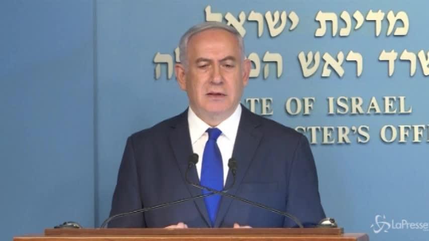 Il premier israeliano Netanyahu cancella l'accordo con l'Onu