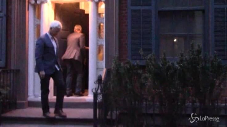 Amal e George, cena romantica a New York