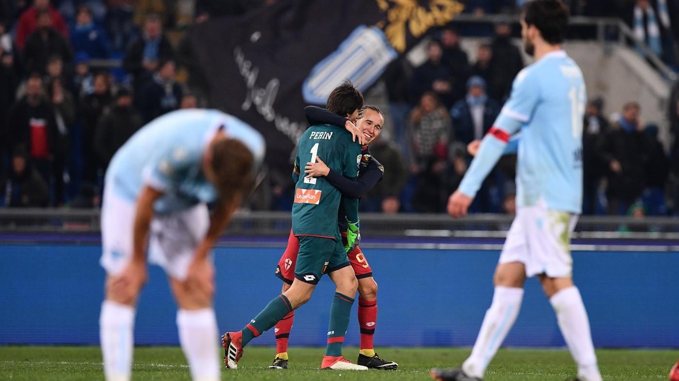 Genoa, che colpo all'Olimpico! Lazio disastro in casa: 1-2
