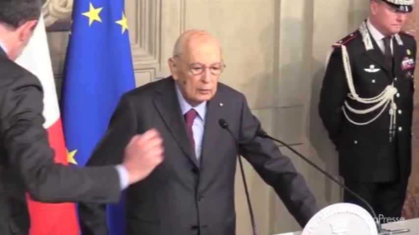 """Consultazioni, Napolitano: """"Compito Mattarella complesso e urgente"""""""