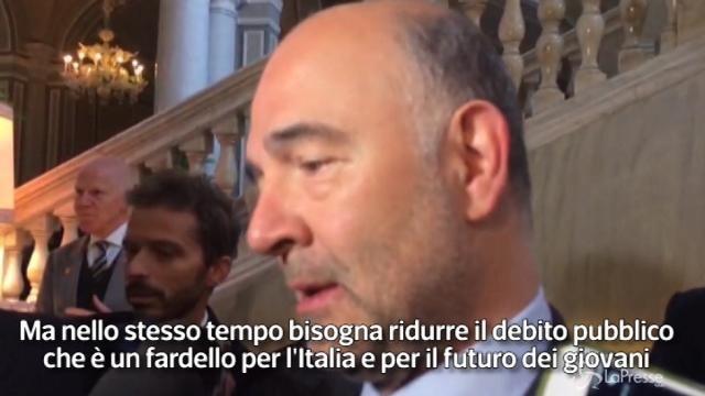 """Moscovici: """"Dialogo costruttivo ma l'Italia deve attraversare un sentiero sretto"""""""