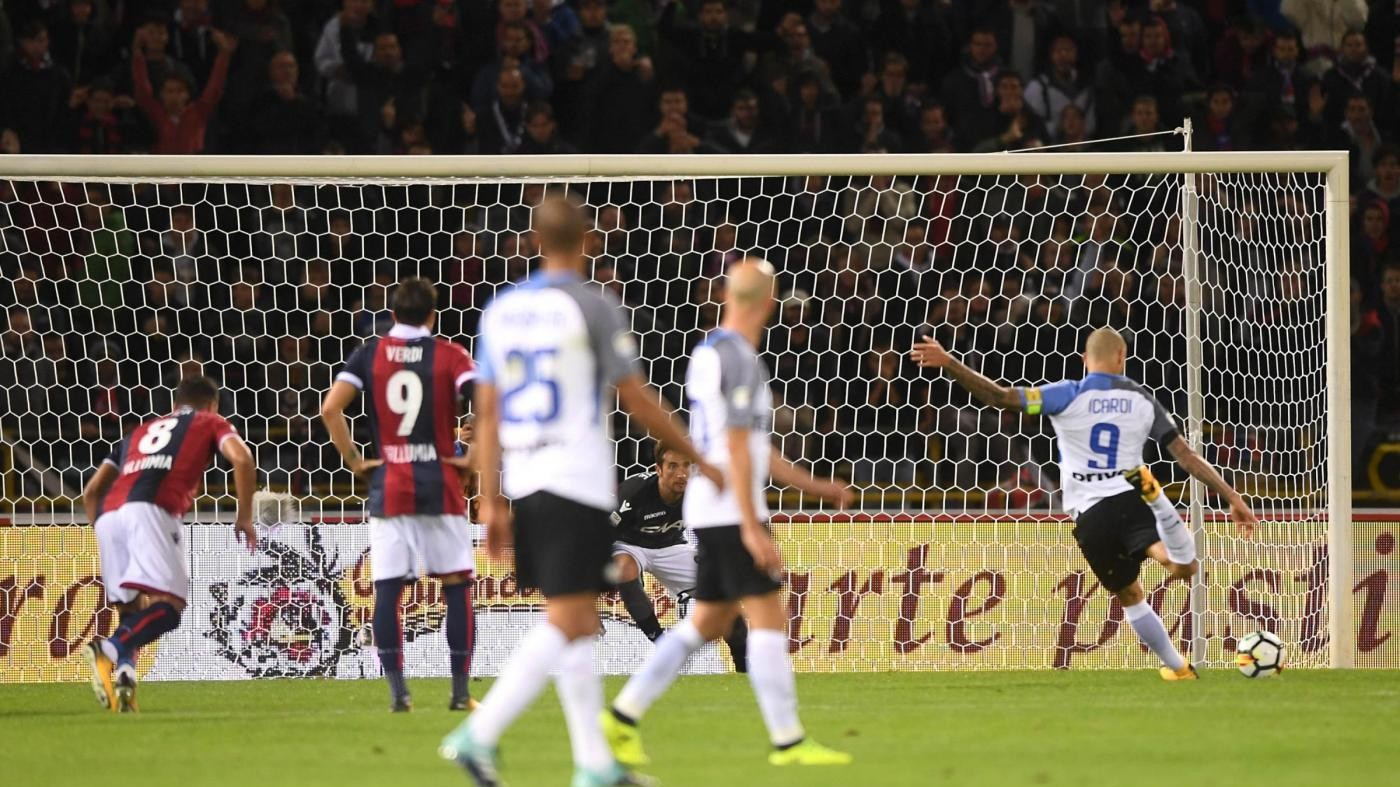 Serie A, Icardi replica a Verdi: Bologna-Inter 1-1 nell'anticipo