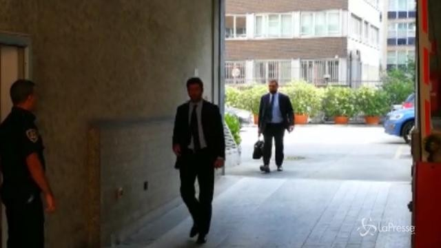 Lega Serie A, l'arrivo all'assemblea di Andrea Agnelli