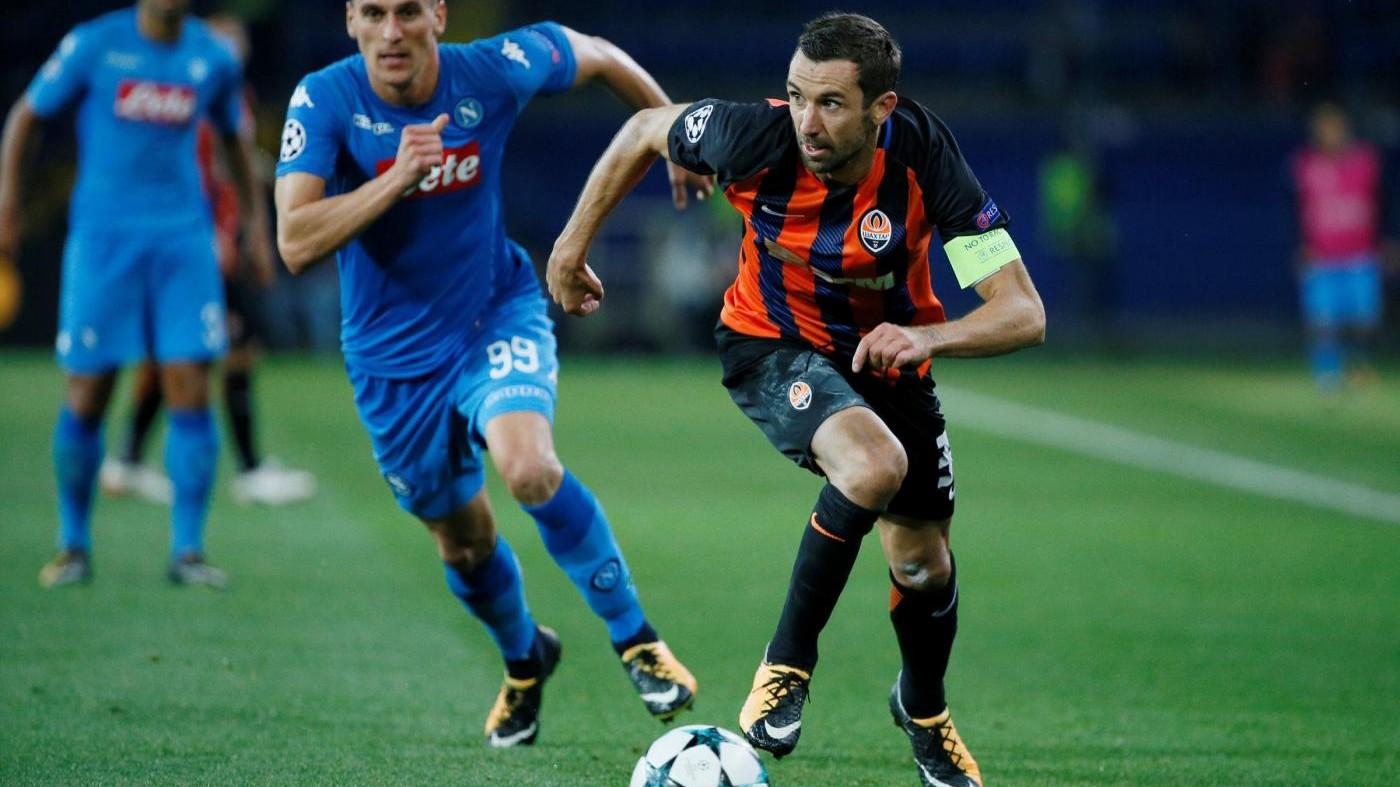 Srna (Shakhtar Donetsk) positivo dopo la partita col Napoli