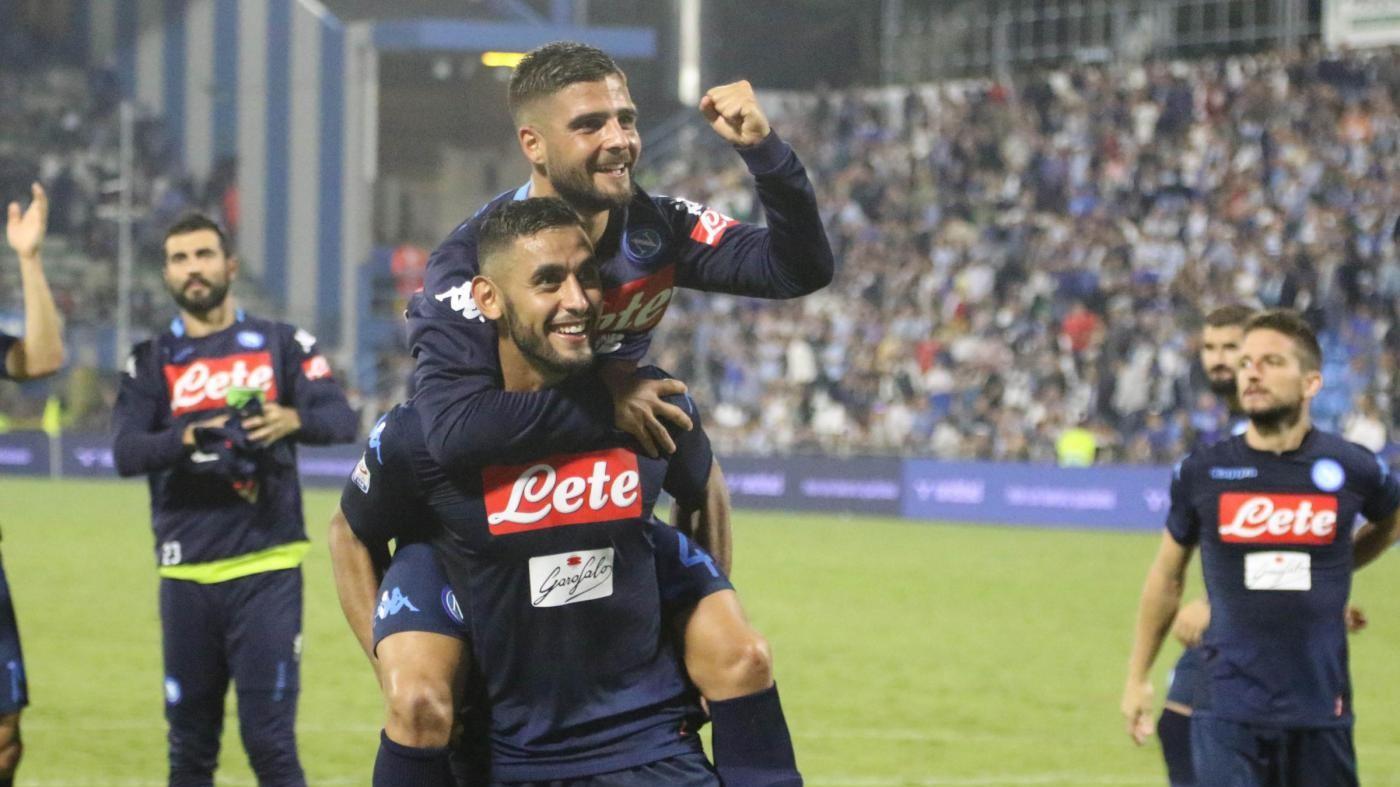 Serie A, il Napoli soffre ma vince ancora: 3-2 alla Spal