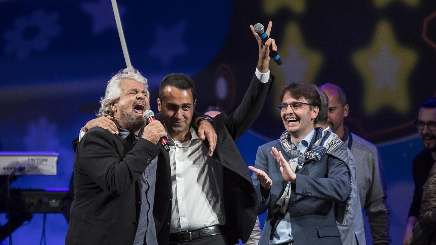 """Di Maio candidato premier: """"Non cambierò il M5S"""". Fico: """"No correnti"""""""