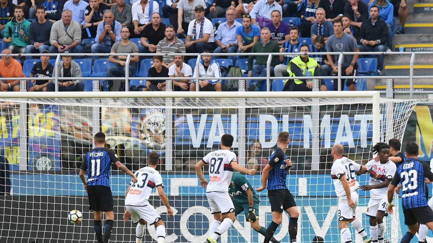 Serie A, pagelle Inter-Genoa 1-0: male Dalbert, D'Ambrosio decisivo