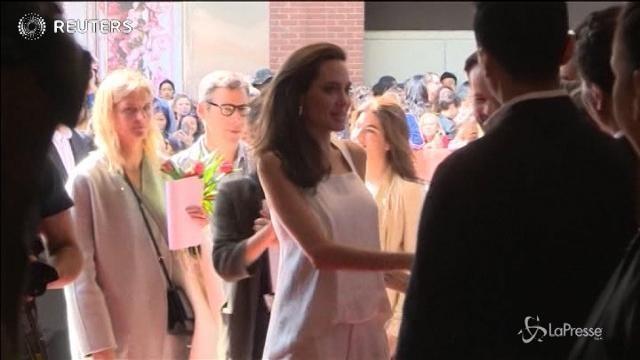Angelina Jolie con i figli al Festival di Toronto