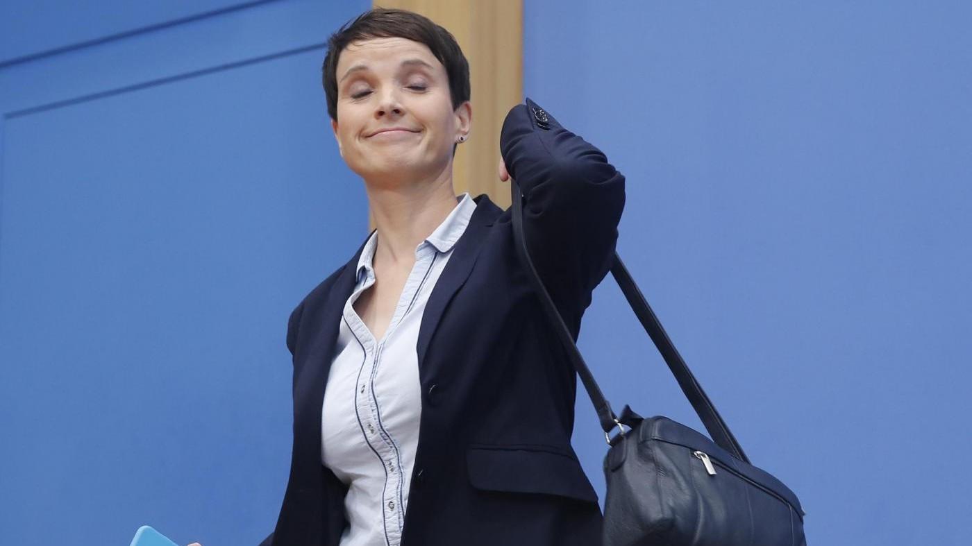 Germania, Frauke Petry dopo lo strappo lascia AfD
