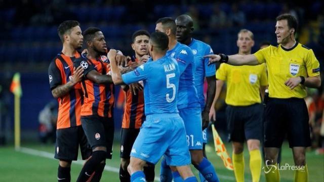 Champions League, il Napoli cade contro lo Shakhtar