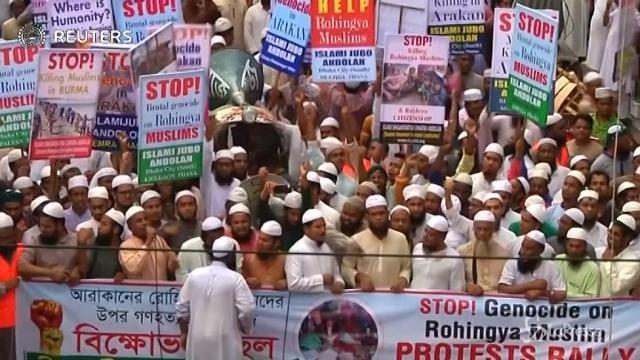 Bangladesh, in migliaia in strada a sostegno dei Rohingya